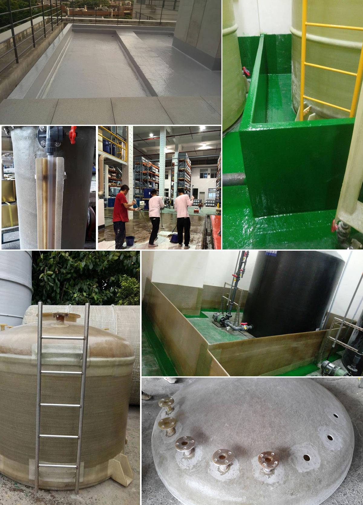 華龍工程行,屋頂、外牆防水防漏處理工,攪拌池、廢水處理池,FRP內襯工程
